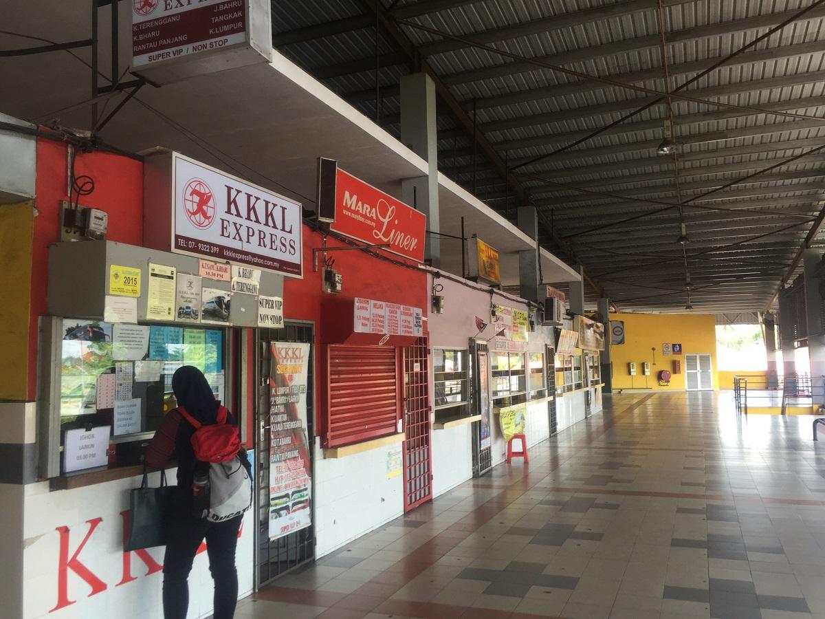 Segamat bus terminal counter